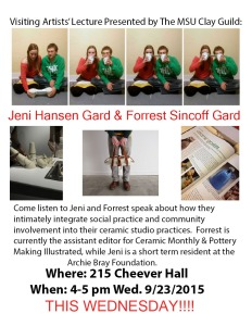 Visiting Artists: Jeni Hansen Gard and Forrest Sincoff Gard!!!