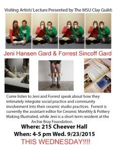 Visiting Artists: Jeni Hansen Gard and Forrest SincoffGard!!!