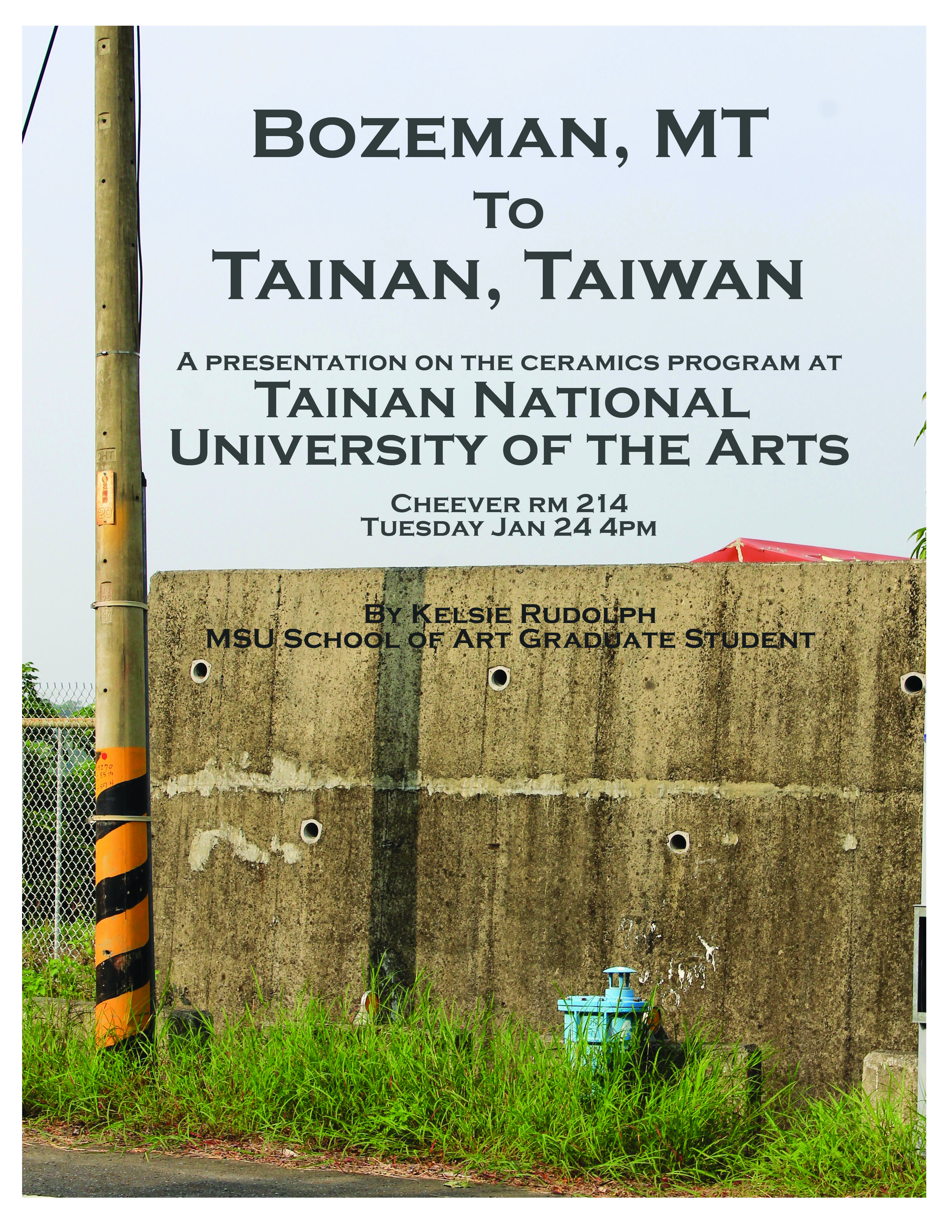 Kelsie Rudolph lecture on Taiwan