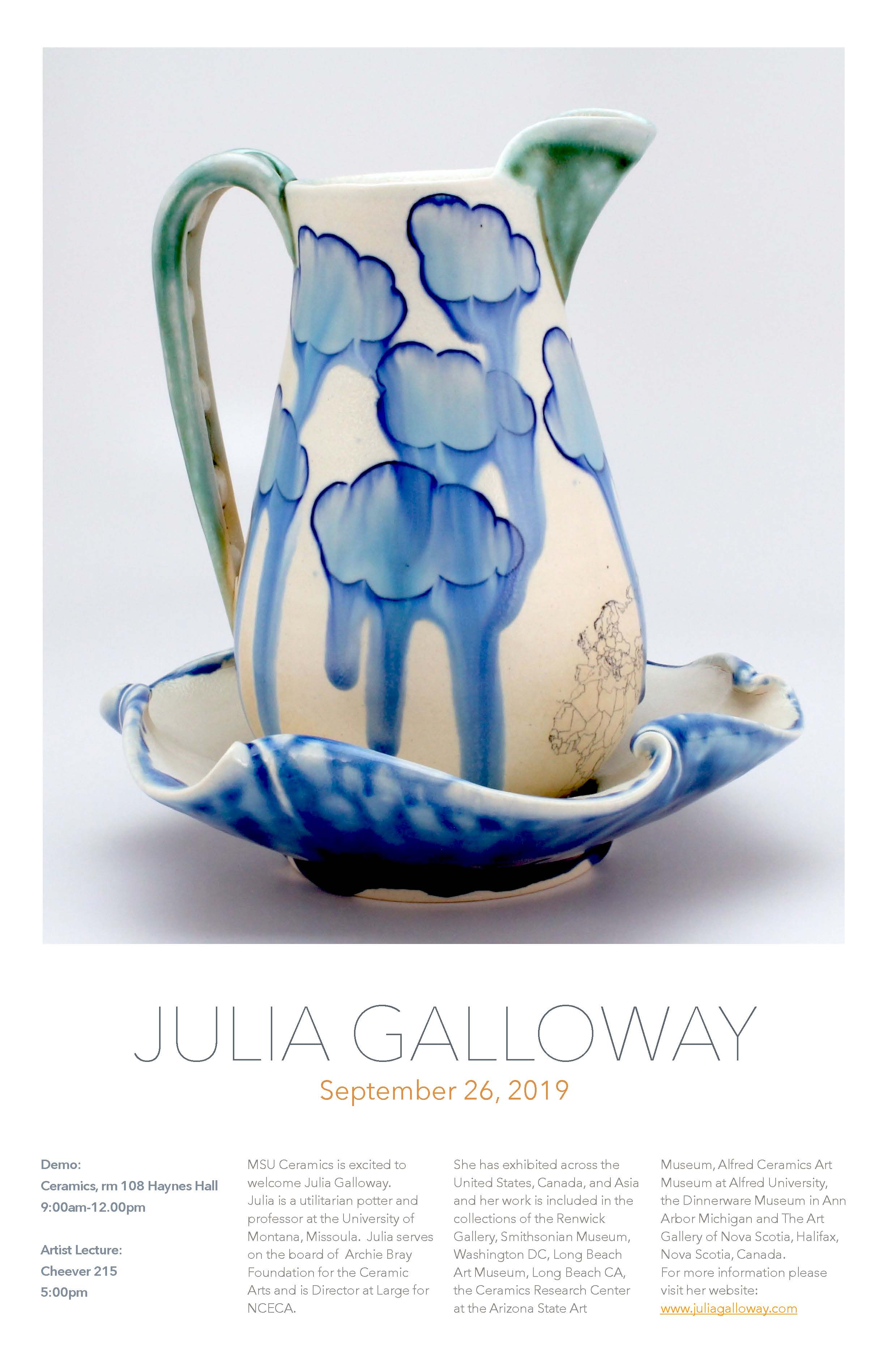 Visiting Artist: Julia Galloway!
